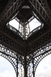 Eiffel Tower details from Paris in France stock images