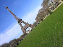 Eiffel Tower diagonal, Paris, France Royalty Free Stock Images
