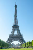 Eiffel Tower from Direction Champs-de-Mars Stock Photo