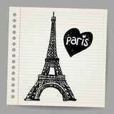 Eiffel Tower Doodle Vector Royalty Free Stock Photo