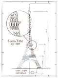 Eiffel Tower Drawing Royalty Free Stock Photo