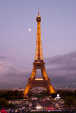 Eiffel tower at dusk Stock Images