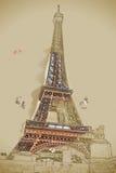 Eiffel tower at dusk Stock Photography