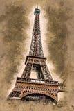 Eiffel tower at dusk Royalty Free Stock Photo