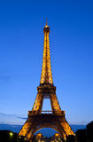 The Eiffel Tower at dusk in Paris Stock Image
