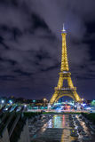 Eiffel Tower at dusk. Stock Photo