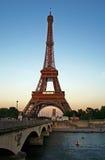 Eiffel tower at dusk Stock Photos