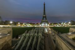 Eiffel tower at the early morning royalty free stock photography