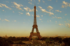 Eiffel Tower at early sunrise - Paris Royalty Free Stock Photography