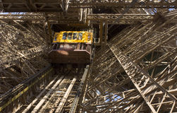 Eiffel tower elevator Stock Images