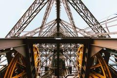 Eiffel tower elevator mechanism, Paris, France Stock Photos
