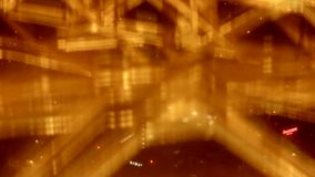In the Eiffel Tower elevator stock video footage