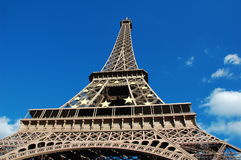 Eiffel Tower with EU symbol Royalty Free Stock Photos