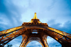 Eiffel Tower in the evening Stock Photos
