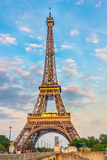 Eiffel Tower at the evening Stock Photo