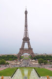 Eiffel-tower in evening Stock Images