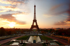 Eiffel Tower in evening, Paris, France Royalty Free Stock Photos