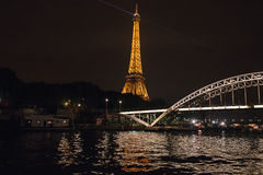 The Eiffel tower in evening Stock Images
