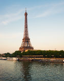 Eiffel Tower in evening Paris Royalty Free Stock Image