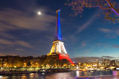 The Eiffel tower in evening. Stock Images