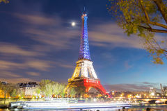 The Eiffel tower in evening, Paris, France. Royalty Free Stock Photo