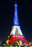 The Eiffel tower in evening, Paris, France. Stock Photo
