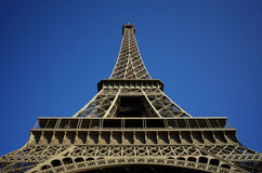 Eiffel Tower Extreme Angle Royalty Free Stock Photography