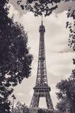 The Eiffel Tower : a Famous Iron Sculpture, Symbol of Paris Stock Images