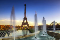 Eiffel Tower. Famous Eiffel Tower Paris, France royalty free stock photo