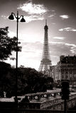 The Eiffel Tower Famous Paris Landmark in France Stock Photo