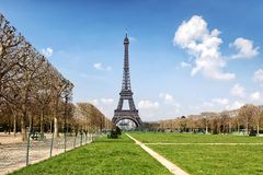 Eiffel Tower and Field of Mars Stock Photos