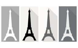 Eiffel Tower. Flat icon. Eiffel Tower. Isolated object on a white background Stock Image