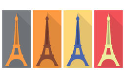 Eiffel Tower. Flat icon. Eiffel Tower. Isolated object on a white background Stock Photo