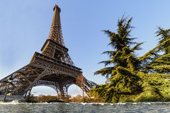 Eiffel tower flooded Royalty Free Stock Photography