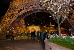 Eiffel Tower Flower Show Royalty Free Stock Photos