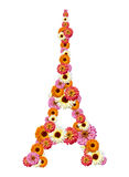 Eiffel tower from flowers Royalty Free Stock Photo