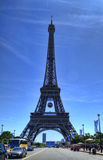 Eiffel Tower With Football in Paris Stock Image