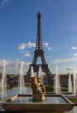 Eiffel Tower and fountain at Jardins du Trocadero, Paris Royalty Free Stock Photos