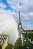 Eiffel tower and fountains Stock Photo