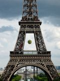 Eiffel Tower during French Open Royalty Free Stock Photo
