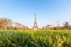 Eiffel Tower garden Spring Paris Stock Photos
