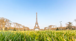 Eiffel Tower garden Spring Paris Stock Photography