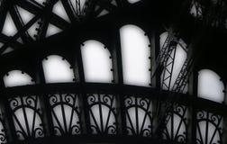 Eiffel Tower girders. Creative close-up of Eiffel Tower, Paris, France Royalty Free Stock Photo