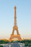 Eiffel Tower in Golden Light Stock Images