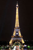Eiffel tower great night view in paris france Royalty Free Stock Photo