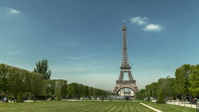 Eiffel tower great timelapse in 4K UHD. Eiffel tower in Paris seen from Trocadero. It is a lovely summer afternoon. Afternoon. This footage is in 4K UHD stock video