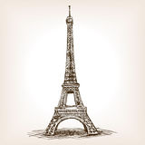 Eiffel Tower hand drawn sketch style vector Stock Photo