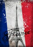 Eiffel Tower. Hand drawn vector illustration Stock Photos