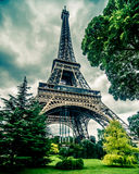 Eiffel Tower in HDR. Paris, France Stock Images