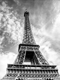 Eiffel tower - HDR. Black and white Royalty Free Stock Images